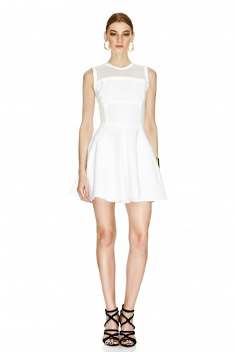 White Flared Dress - PNK Casual
