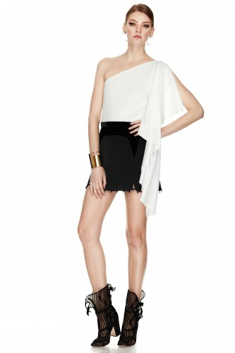 White One-Shoulder Top - PNK Casual