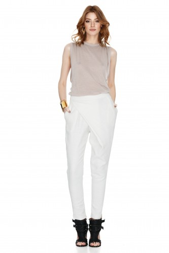 White Tapered Pants - PNK Casual