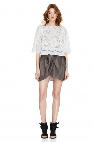 White Guipure Lace Blouse - PNK Casual