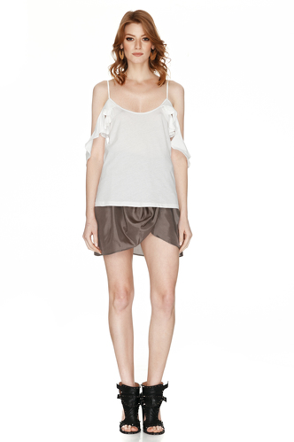 White Draped Top - PNK Casual
