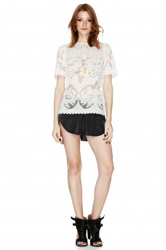 White Lace Blouse - PNK Casual