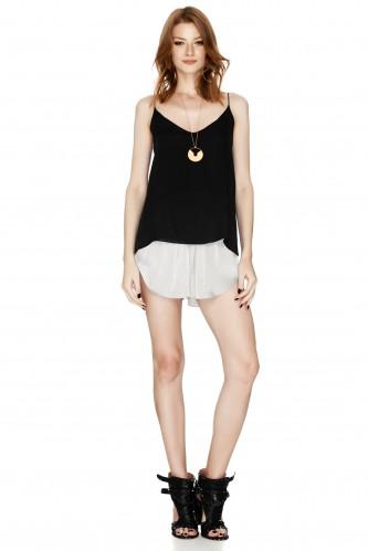 Grey Satin Shorts - PNK Casual