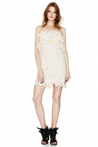 Off White Backless Mini Dress - PNK Casual