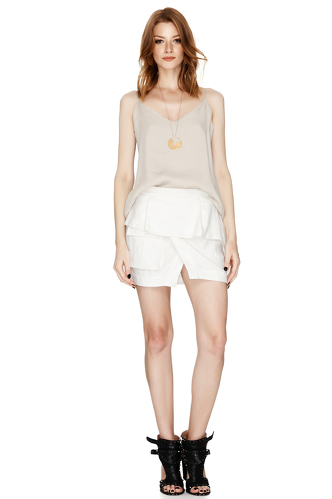 White Mini Skirt - PNK Casual