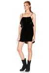 Black Silk Velvet Mini Dress
