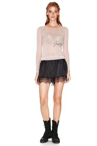 Black Silk Shorts - PNK Casual