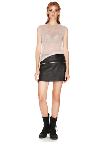 Black Leather Skirt - PNK Casual