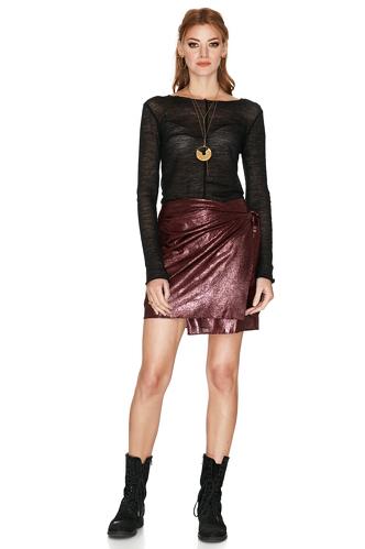 Burgundy Wool-Blend Skirt - PNK Casual