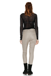 Beige Tapered Pants With Folded Detail