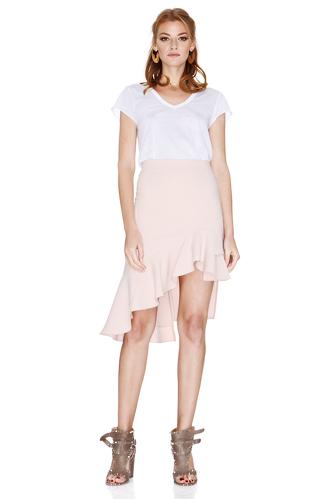 Pink Asymmetric Midi Skirt - PNK Casual