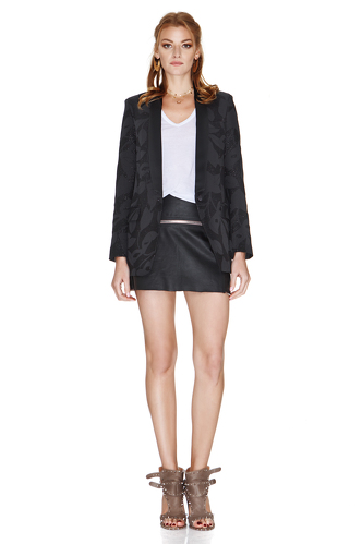 Black Jacket With Metallic Insertions - PNK Casual
