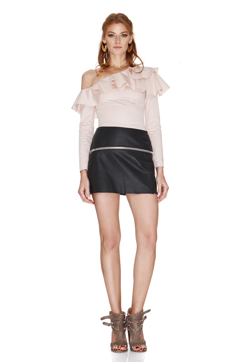 pink one shoulder shirt pnk casual. Black Bedroom Furniture Sets. Home Design Ideas