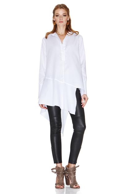 White Shirt With Asymmetric Detail