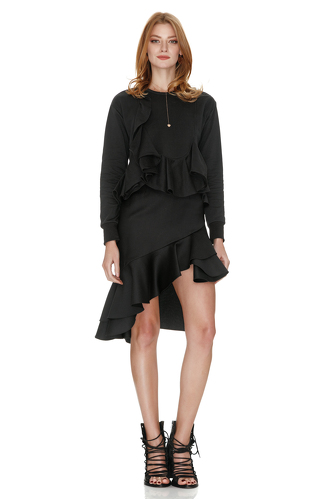 Black Top With Ruffles - PNK Casual