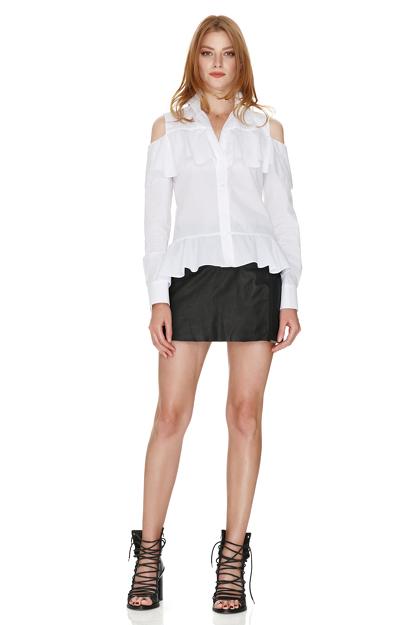 White Shirt With Ruffles
