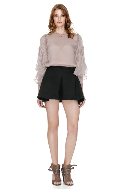 Dusty Pink Silk Chiffon Blouse