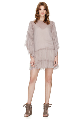 Dusty Pink Silk Chiffon Dress - PNK Casual