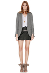 Grey Blazer With Ruffles