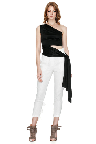 Black One Shoulder Jersey Top - PNK Casual