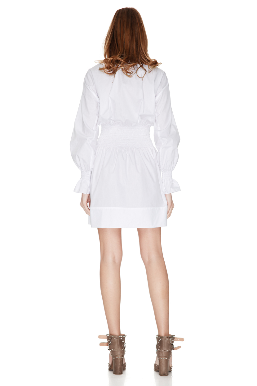 White Cotton Dress Top Selected Products and Reviews YMING Women Loose Short Sleeve Casual Dress A Line Swing Simple Multicolor Mini Dress by YMING In Stock.