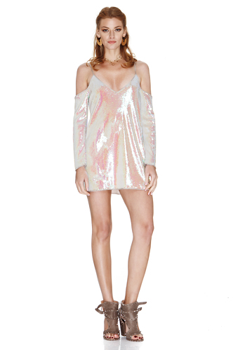 Multicolored Sequins Mini Dress - PNK Casual
