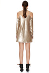 Gold Sequins Mini Dress