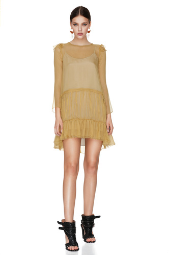 Yellow Silk Dress - PNK Casual