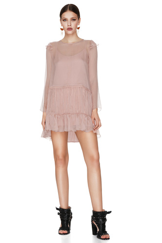 Pink Silk Chiffon Dress - PNK Casual
