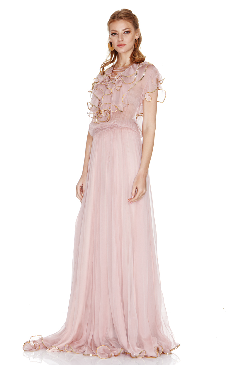 f812dabb9d0 Silk Chiffon Maxi Dress - ShopStyle