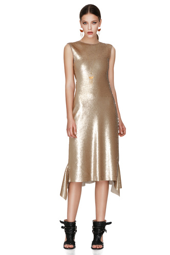 Gold Sequins Midi Dress - PNK Casual
