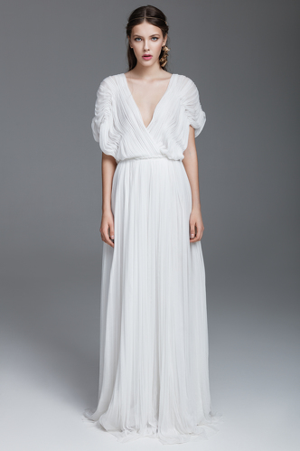 White Silk Tulle Long Dress - PNK Casual