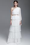 White Silk Long Dress