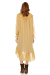 Yellow Silk Chiffon Midi Dress