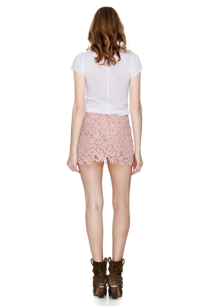 Pink Lace Mini Skirt - PNK Casual