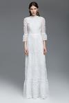 White Crocheted Long Dress