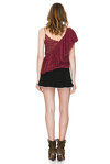 Burgundy Delicate Lace Top