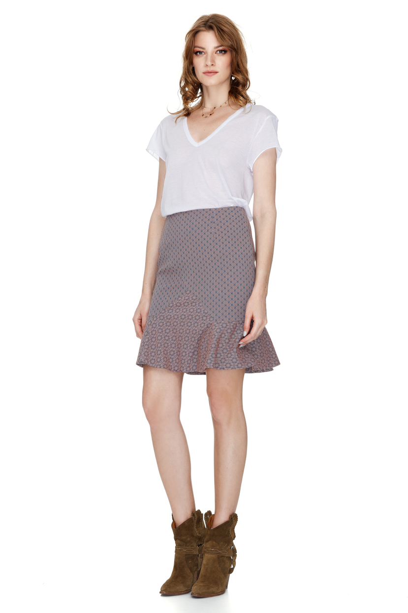 lavender mini skirt pnk casual