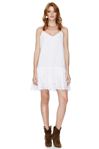 White Mini Dress With Straps - PNK Casual