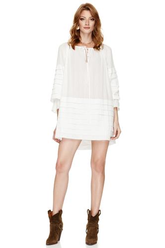 White Mini Boho Dress - PNK Casual