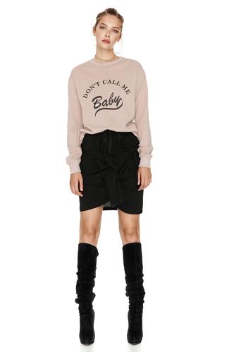 Beige Printed Sweatshirt - PNK Casual