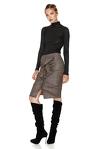 Brown Wool Ruffled Skirt