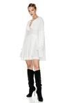 White Mini Pleated Dress