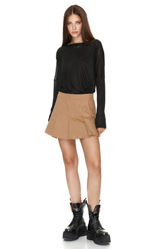 Jersey Black Blouse - PNK Casual