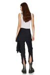Stripe Wool Skirt Layered Pants