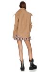 Metallic Silk Ruffled Shorts