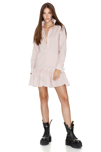 Cotton Striped Mini Dress - PNK Casual