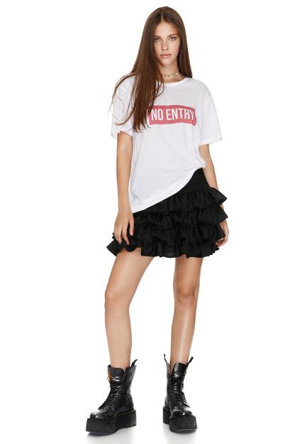 White Printed Cotton-Jersey T-Shirt