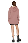 Oversize Dusty Pink Hooded Sweatshirt