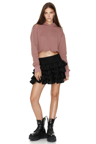 Dusty Pink Hooded Sweatshirt - PNK Casual